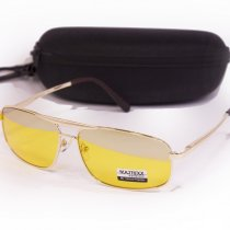 Желтые очки для водителей с футляром F8883-2